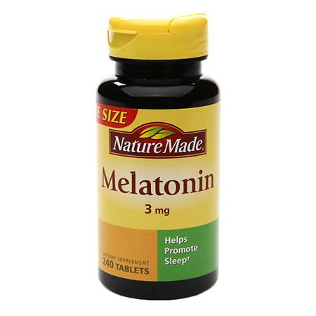 Nature Made Melatonin 3 mg Dietary Supplement Tablets - 240 ea