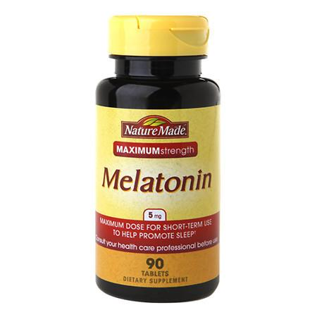 Nature Made Melatonin 5 mg Dietary Supplement Tablets - 90 ea
