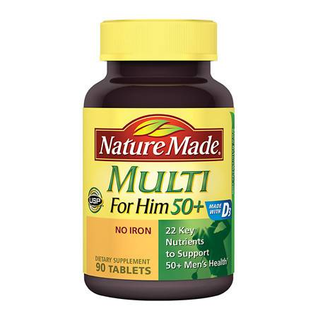 Nature Made Multi 50+ Dietary Supplement Tablets - 90 ea