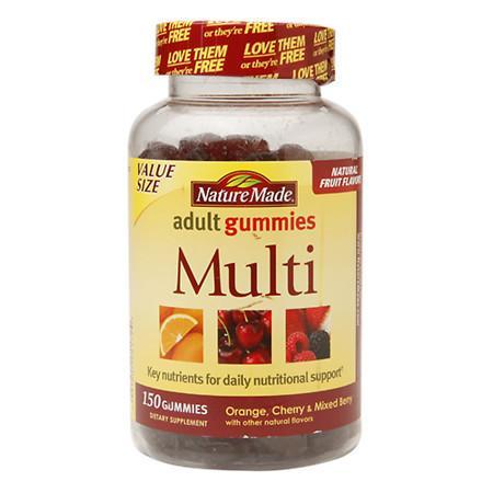 Nature Made Multi Adult Gummies Orange, Cherry & Mixed Berry - 150 ea
