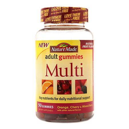 Nature Made Multi Adult Gummies Orange, Cherry & Mixed Berry - 90 ea