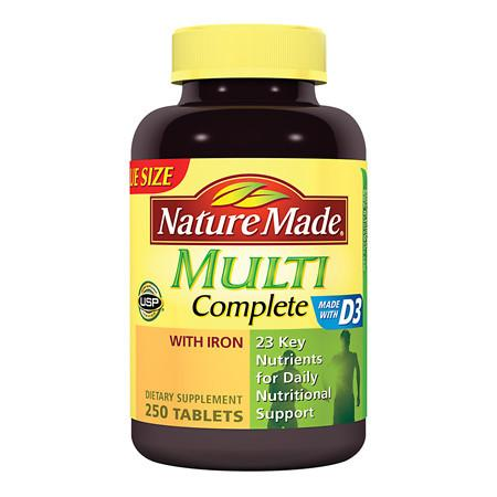 Nature Made Multi Complete Dietary Supplement Tablets - 250 ea