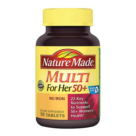 Nature Made Multi For Her 50+ Dietary Supplement Tablets - 90 ea