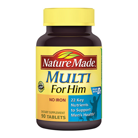 Nature Made Multi For Him Dietary Supplement Tablets - 90 ea