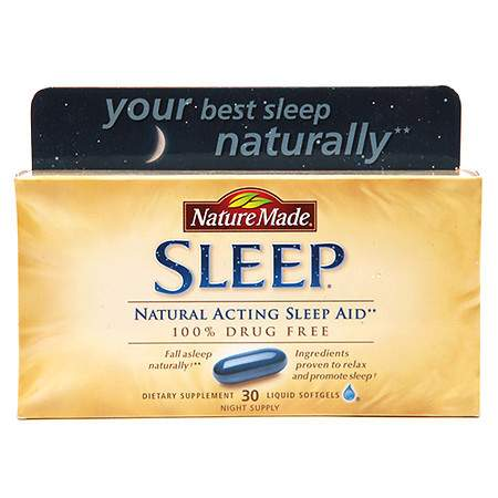 Nature Made Sleep Dietary Supplement, Liquid Softgels - 30 ea