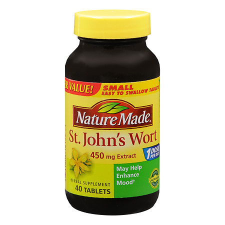 Nature Made St. John's Wort, 450mg Extract, Tablets - 40 ea