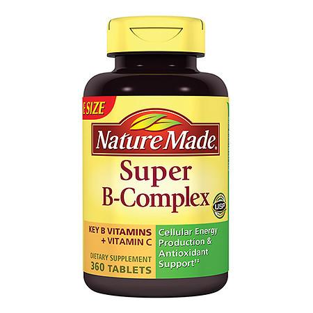 Nature Made Super B-Complex Dietary Supplement Tablets - 360 ea