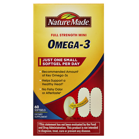 Nature Made Super Omega-3 Fish Oil Mini, Softgels - 60 ea