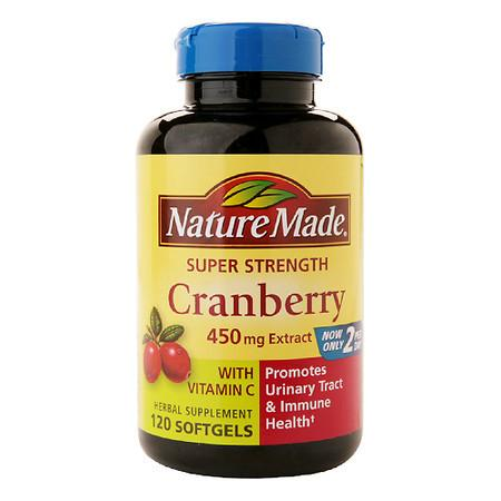 Nature Made Super Strength Cranberry 450mg Extract, Softgels - 120 ea