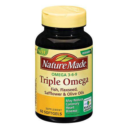 Nature Made Triple Omega Dietary Supplement Liquid Softgels - 60 ea