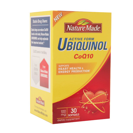 Nature Made Ubiquinol CoQ10 100 mg, Softgels - 30 ea