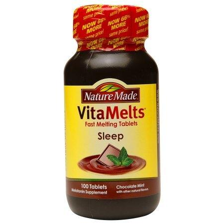 Nature Made VitaMelts Sleep Melatonin 3mg, Tablets Chocolate Mint - 100 ea