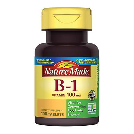 Nature Made Vitamin B-1 100 mg Dietary Supplement Tablets - 100 ea