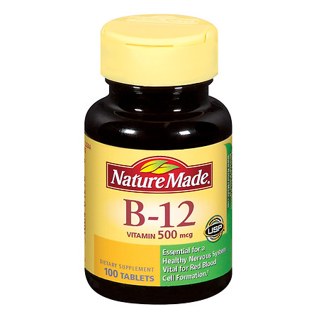 Nature Made Vitamin B-12 500 mcg Dietary Supplement Tablets - 100 ea