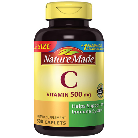 Nature Made Vitamin C 500 mg Dietary Supplement Caplets - 500 ea