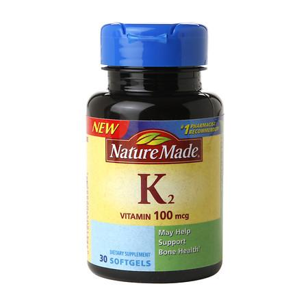 Nature Made Vitamin K2 100 mcg, Softgels - 30 ea