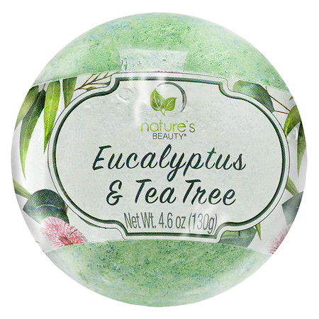 Nature's Beauty Eucalyptus & Tea Tree Bath Bomb - 5 oz.