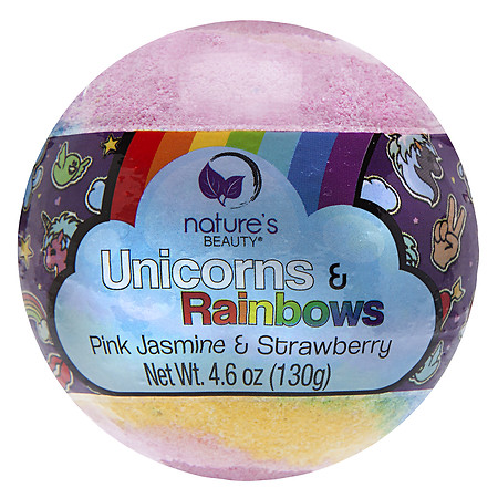 Nature's Beauty Unicorns & Rainbows Bath Bomb - 5 oz.