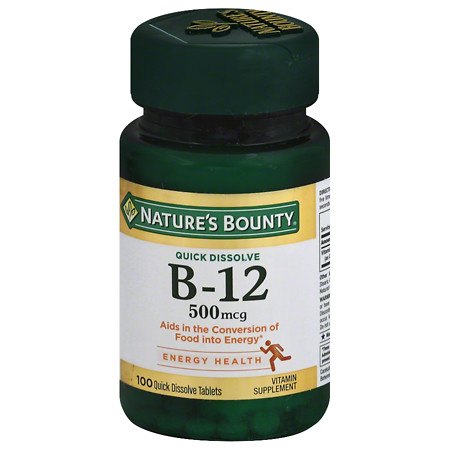 Nature's Bounty B-12 500mcg Microlozenges Cherry - 100 ea