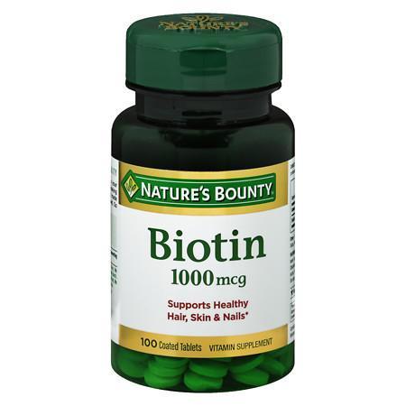 Nature's Bounty Biotin, 1000mcg Tablets - 100 ea