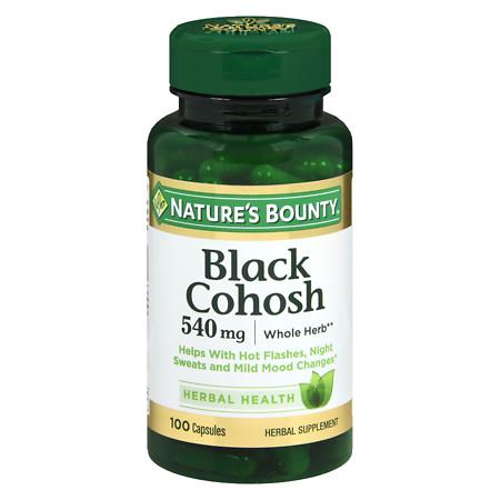 Nature's Bounty Black Cohosh 530 mg Herbal Supplement Capsules - 100 ea