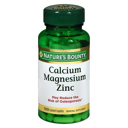 Nature's Bounty Calcium Magnesium Zinc, Tablets - 100 ea