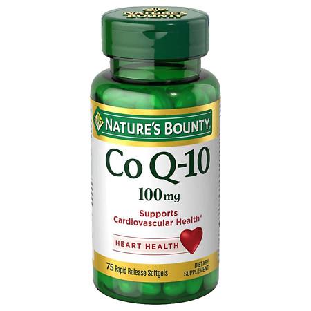 Nature's Bounty Co Q-10 100 mg Plus Q-Sorb Dietary Supplement Softgels - 60 ea