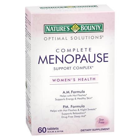 Nature's Bounty Complete Menopause Support Complex Dietary Supplement Tablets - 60 ea