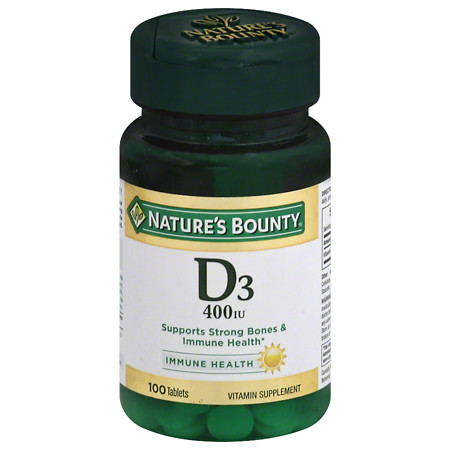 Nature's Bounty D-400 IU, Tablets - 100 ea