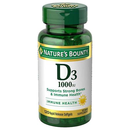 Nature's Bounty D3-1000 IU Dietary Supplements Softgels - 200 ea