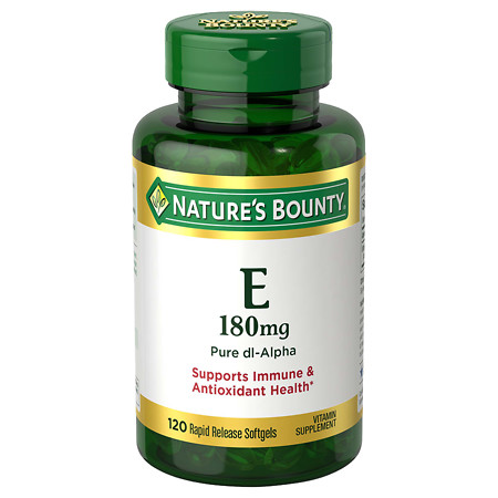 Nature's Bounty E-400 IU, Pure dl-Alpha, Softgels - 120 ea
