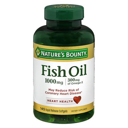 Nature's Bounty Fish Oil 1000 mg, Rapid Release Liquid Softgels - 135 ea