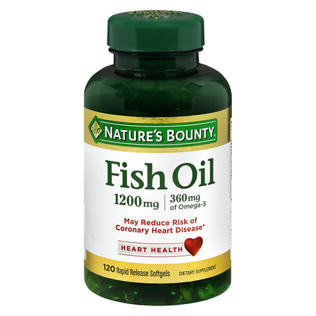 Nature's Bounty Fish Oil 1200 mg Dietary Supplement Softgels - 100 ea