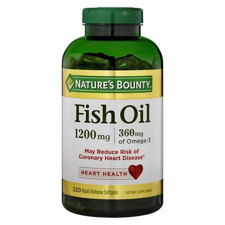 Nature's Bounty Fish Oil 1200 mg Dietary Supplement Softgels - 320 ea