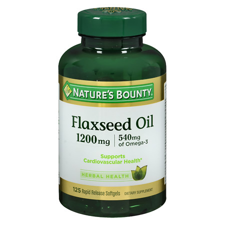 Nature's Bounty Flaxseed Oil 1200 mg Dietary Supplement Softgels - 125 ea