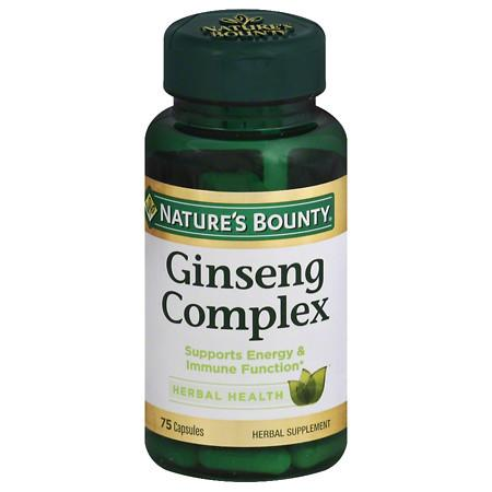 Nature's Bounty Ginseng Complex Capsules - 75 ea