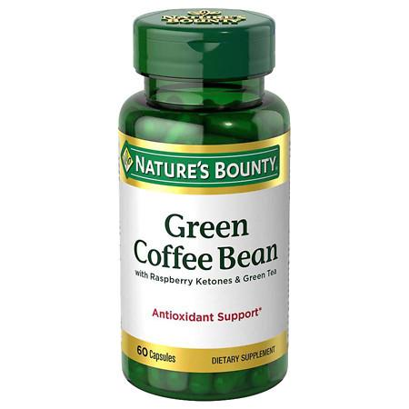 Nature's Bounty Green Coffee Bean with Raspberry Ketones & Green Tea, Capsules - 60 ea
