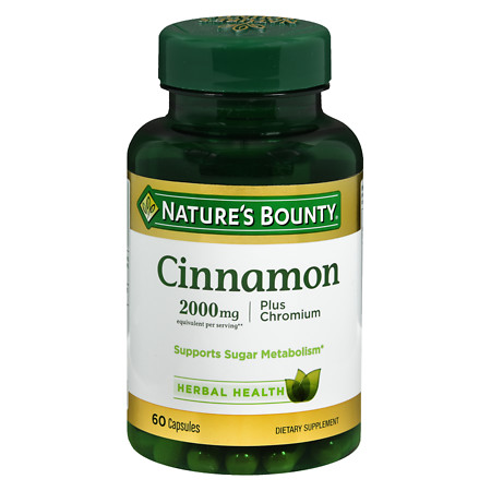 Nature's Bounty High Potency Cinnamon 2000 mg Dietary Supplement Capsules - 60 ea