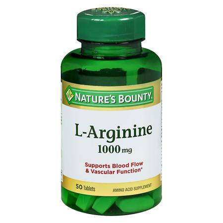 Nature's Bounty L-Arginine 1000 mg Amino Acid Supplement Tablets - 50 ea