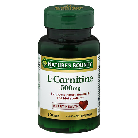 Nature's Bounty L-Carnitine 500 mg Dietary Supplement Tablets - 30 ea