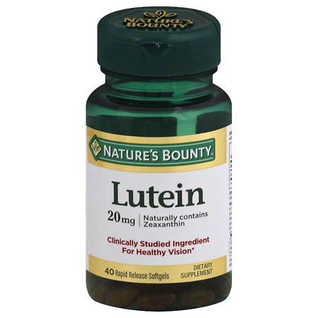 Nature's Bounty Lutein 20 mg Dietary Supplement Softgels - 30 ea