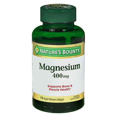 Nature's Bounty Magnesium 400 mg, Softgels - 75 ea