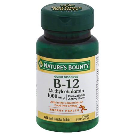 Nature's Bounty Methylcobalamin Vitamin B-12 1000 mcg - 60 ea