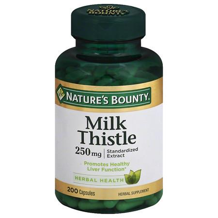 Nature's Bounty Milk Thistle 250 mg Dietary Supplement Capsules - 200 ea