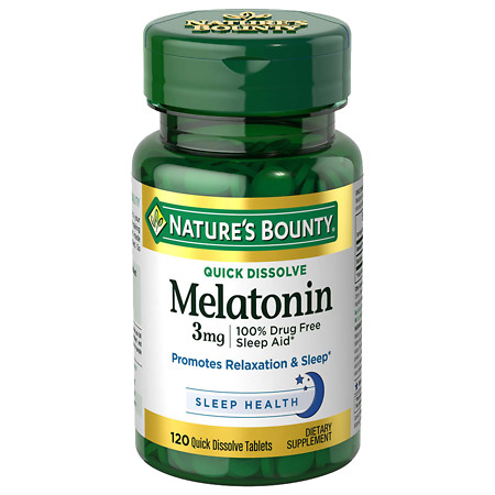 Nature's Bounty Natural Melatonin 3 mg, Tablets - 120 ea