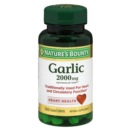 Nature's Bounty Odor-Free Garlic 2000mg, Tablets - 120 ea
