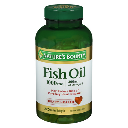 Nature's Bounty Odorless Fish Oil 1000 mg Dietary Supplement Softgels - 200 ea