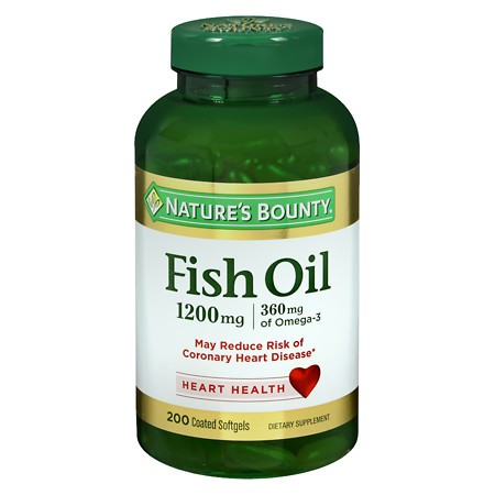 Nature's Bounty Odorless Fish Oil 1200 mg Dietary Supplement Softgels - 200 ea