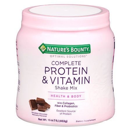 Nature's Bounty Optimal Solutions Complete Protein & Vitamin Shake Mix Decadent Chocolate - 16 oz.