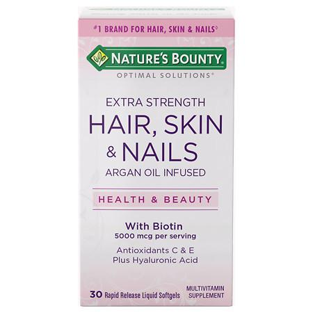 Nature's Bounty Optimal Solutions Hair Skin Nails Softgels - 30 ea